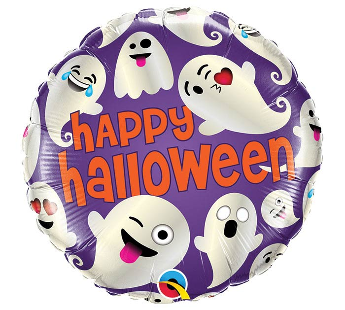 "18"" HALLOWEEN EMOTICON GHOST"