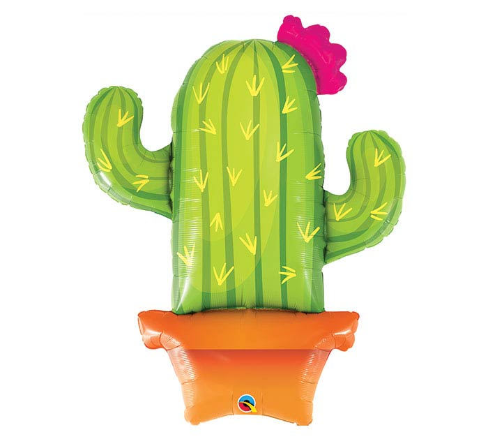 """39""""PKG POTTED CACTUS BALLOON"""