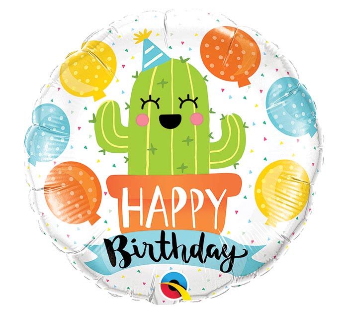"18""PKG BIRTHDAY PARTY CACTUS BALLOON"