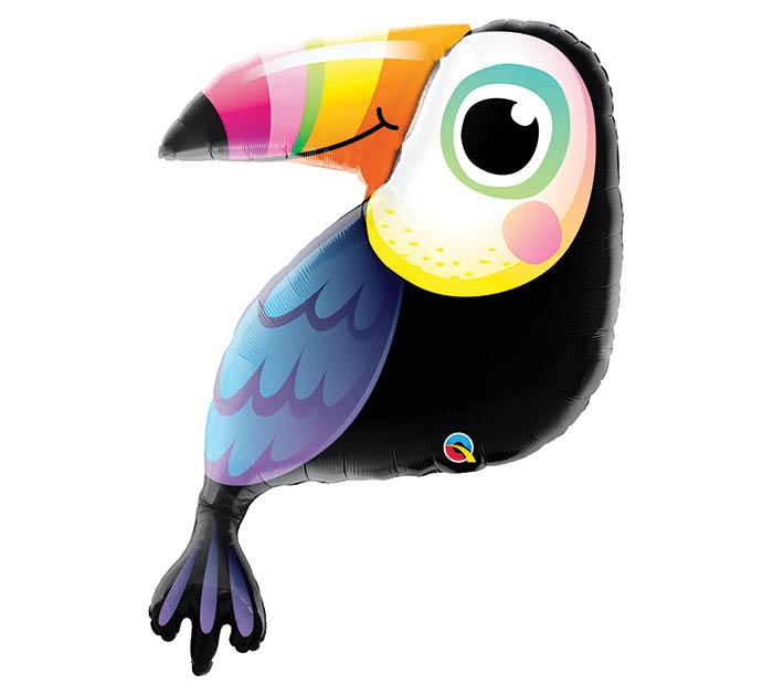 "41"" PKG COLORFUL TOUCAN SHAPE BALLOON"