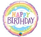 "18"" PKG HAPPY BIRTHDAY RAINBOW BALLOON"