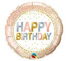 "18""PKG BIRTHDAY METALLIC DOTS BALLOON"