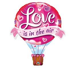 "42""PKG LOVE IS IN THE AIR BALLOON SHAPE"