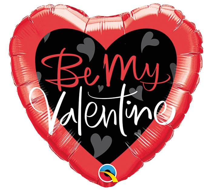 "18"" BE MY VALENTINE SCRIPT HEART"