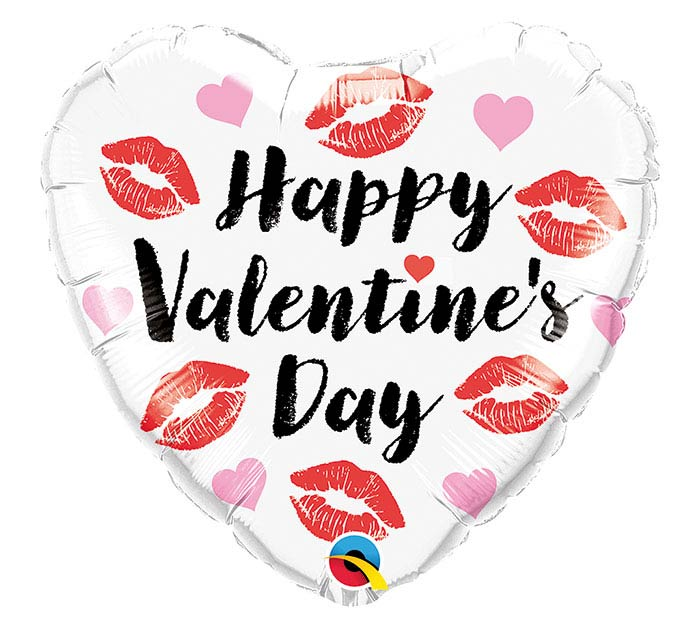 "18"" VALENTINE'S KISSEY LIPS HEART"