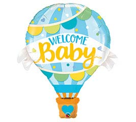 "42""PKG WELCOME BABY BLUE BALLOON SHAPE"