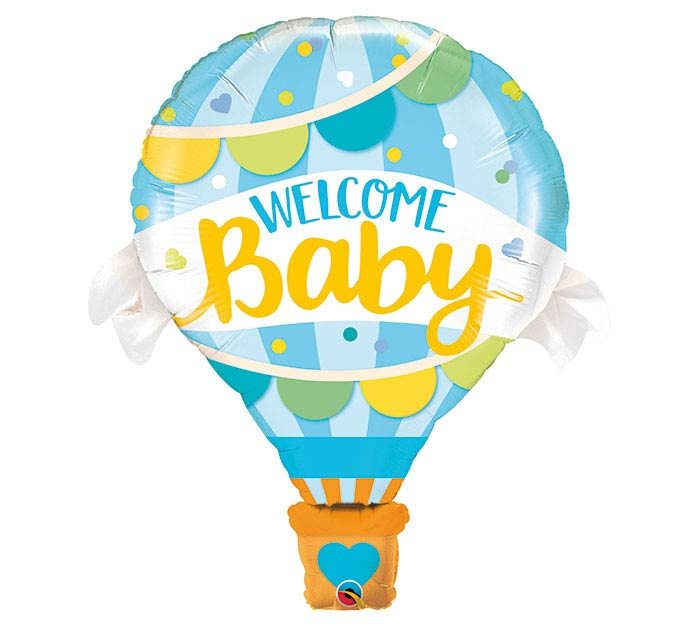 "42""PKG WELCOME BABY BLUE BALLOON SHAPE"