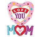 """33""""PKG LOVE YOU M(HEARTM DOTS SHAPE"""
