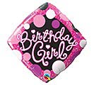 "18""PKG BIRTHDAY GIRL PINK AND BLACK"