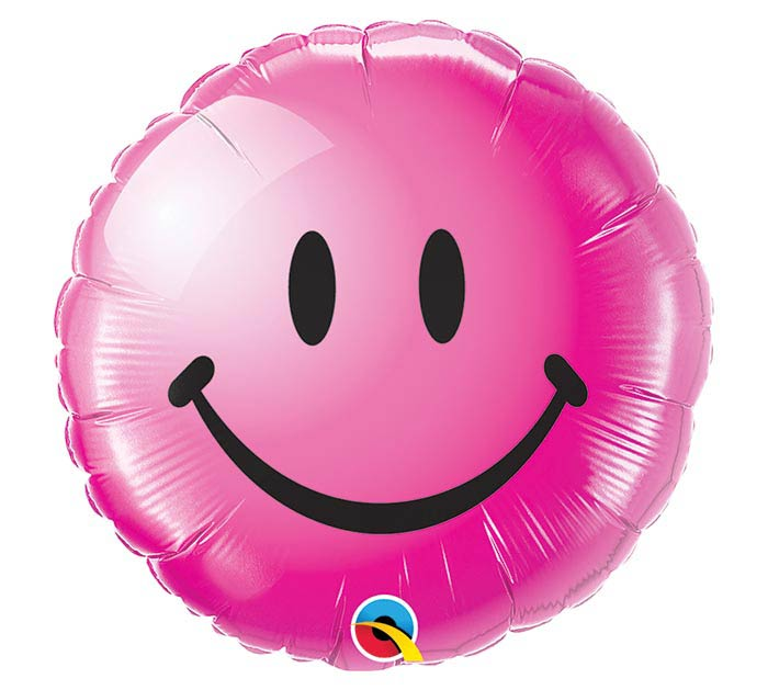 """18"""" PKG WILD BERRY SMILEY FACE BALLOON"""