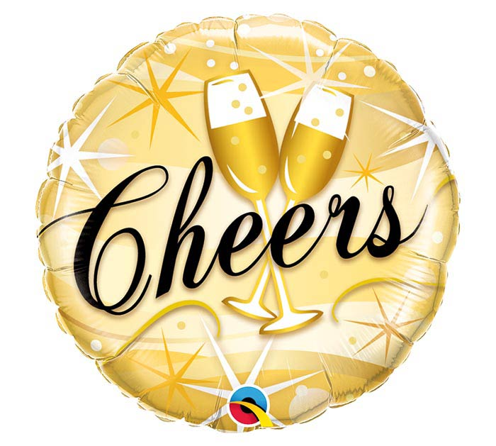 "18"" PKG CHEERS BALLOON"