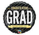 "18"" CONGRATULATIONS GRAD STRIPES"