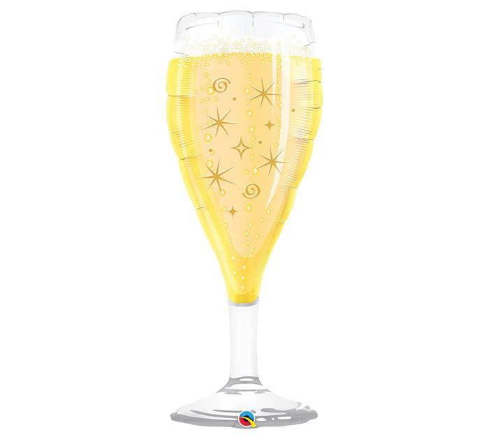 "39"" PKG BUBBLY WINE GLASS SHAPE BALLOON"