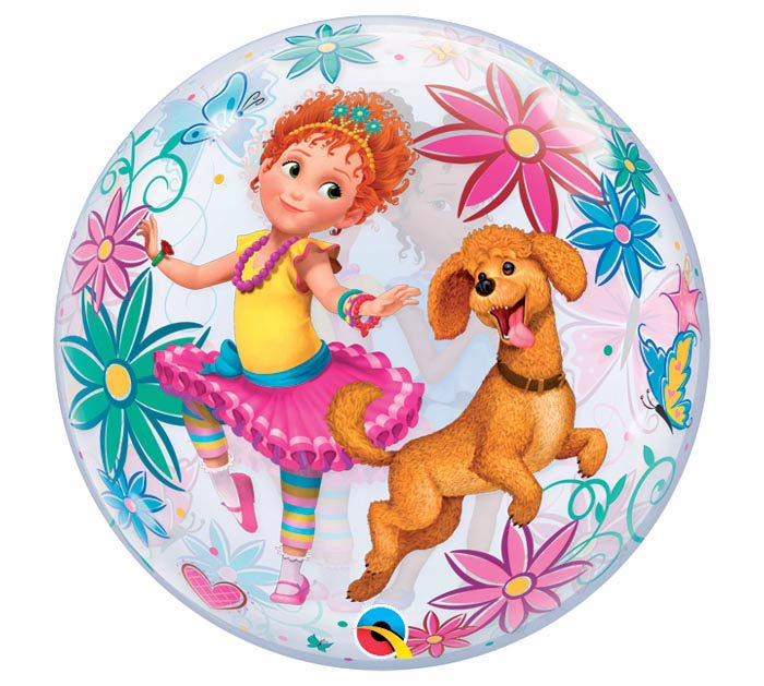 "22"" PKG FANCY NANCY BUBBLE BALLOON"