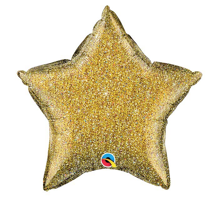 "20""SOL GLITTERGRAPHIC GOLD STAR"