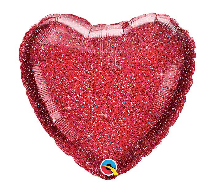 "18""SOL GLITTERGRAPHIC RED HEART"