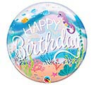 "22"" PKG MERMAID BIRTHDAY BUBBLE BALLOON"