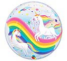"22""PKG BIRTHDAY RAINBOW UNICORNS BUBBLE 1st Alternate Image"