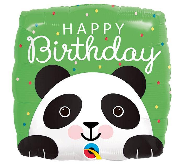 "18""PKG BIRTHDAY PANDA SQUARE"