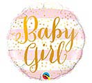 "18""PKG BABY GIRL PINK STRIPES"