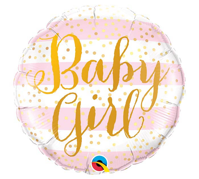 "18""PKG BABY GIRL PINK STRIPES"