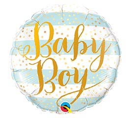 "18""PKG BABY BOY BLUE STRIPES"