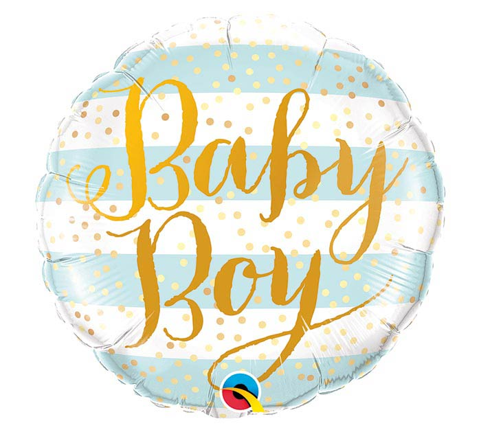 "18""PKG BABY BOY BLUE STRIPES"
