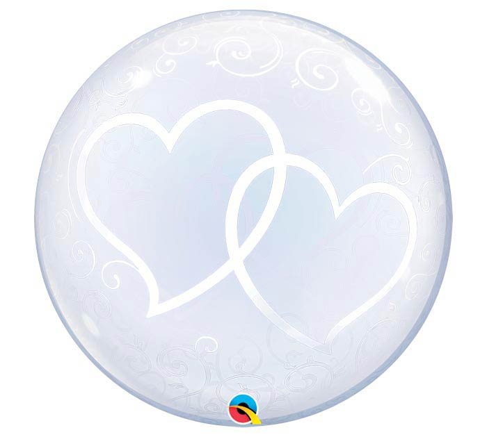 "24""PKG ENTWINED HEARTS DECO BUBBLE"