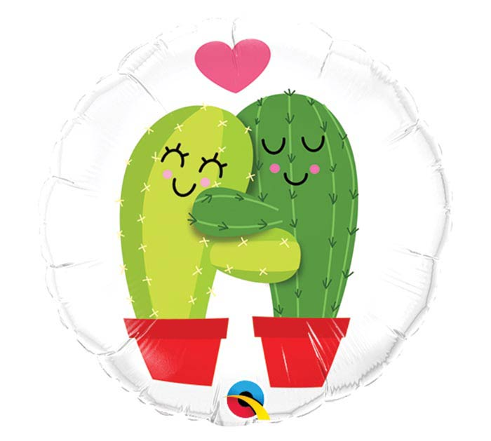"9""INFLATED LUV CACTUS HUGS"