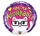 "9""INFLATED LUV YOU'RE ADORKABLE KITTY"