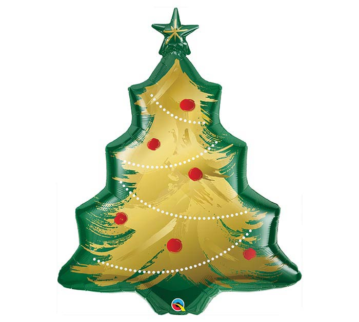"40""PKG CHRISTMAS TREE BRUSHED GOLD"