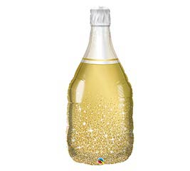"39""PKG GOLDEN BUBBLY WINE BOTTLE"