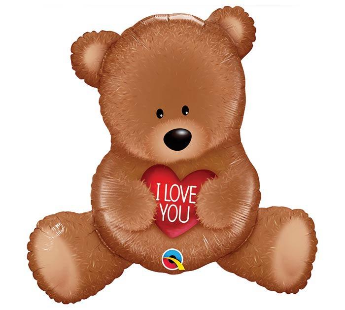 """35""""PKG I LOVE YOU TEDDY BEAR SHAPE"""