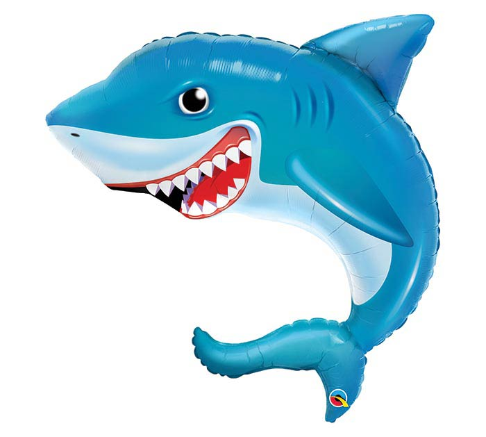 "36"" PKG SMILIN' SHARK SHAPE BALLOON"