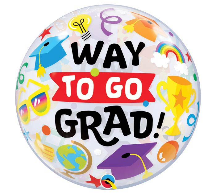 """22""""PKG WAY TO GO GRAD EVERYTHING BUBBLE"""