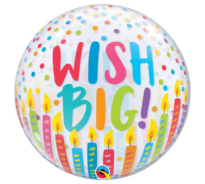 "22""PKG WISH BIG BUBBLE BALLOON"