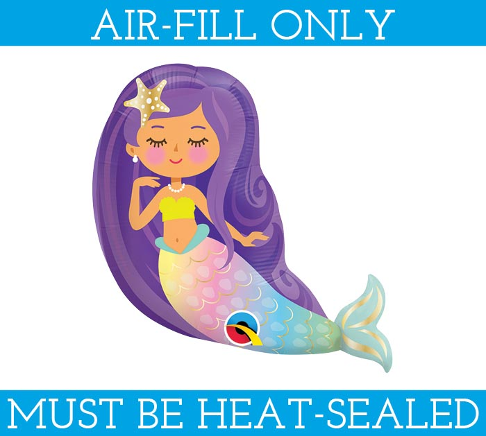 "14""FLAT MINI MERMAID SHAPE"