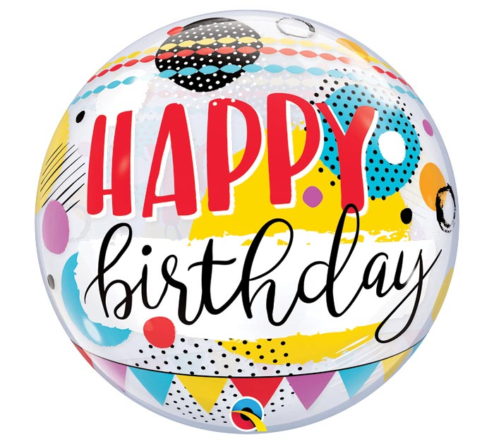 "22""PKG BIRTHDAY CIRCLES  DOTS BUBBLE"