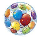 "22"" PKG BALLOON PATTERN BUBBLE BALLOON"