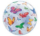 "22"" PKG BUTTERFLY PRINT BUBBLE BALLOON"