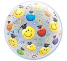 "22"" PKG GRAD SMILEY BUBBLE BALLOON"