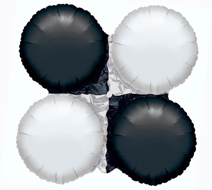 "16"" BLACK  WHITE MAGICARCH"