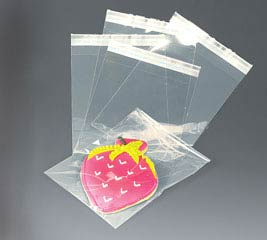 CLEAR LIP-N-TAPE BAG