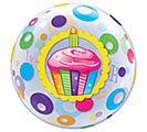 "22"" PKG HAPPY BIRTHDAY BUBBLE BALLOON 1st Alternate Image"