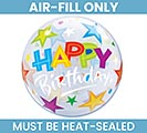 "12"" HAPPY BIRTHDAY BUBBLE AIR FILL ONLY"