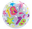 "22"" PKG 18TH BIRTHDAY BUBBLE BALLOON 1st Alternate Image"