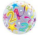 "22"" PKG 21ST BIRTHDAY BUBBLE BALLOON 1st Alternate Image"