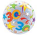 "22"" PKG 30TH BIRTHDAY BUBBLE BALLOON 1st Alternate Image"