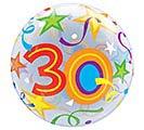 "22"" PKG 30TH BIRTHDAY BUBBLE BALLOON"