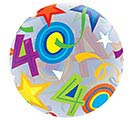"22"" PKG 40TH BIRTHDAY BUBBLE BALLOON 1st Alternate Image"